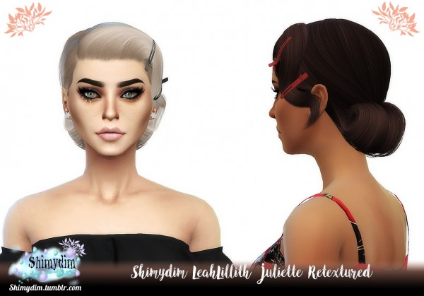 Shimydim: LeahLillith`s Juliette Hair Retextured for Sims 4