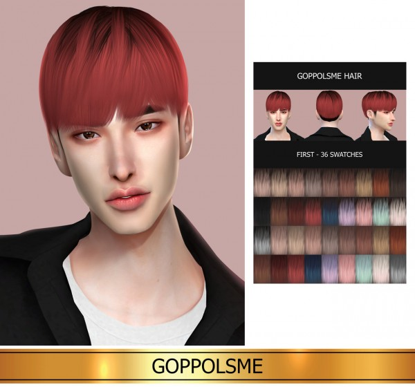 Goppolsme: First Hair for Sims 4