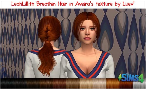 Mertiuza: LeahLilith`s Brathin Hair Retextured for Sims 4
