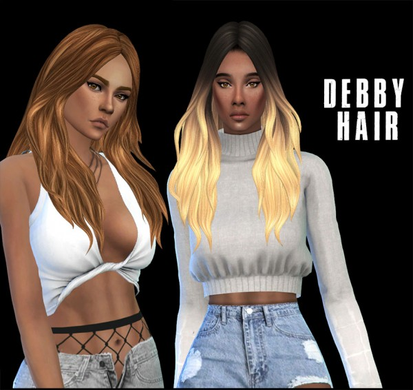 Leo 4 Sims: Debby Hair 2 recolored for Sims 4