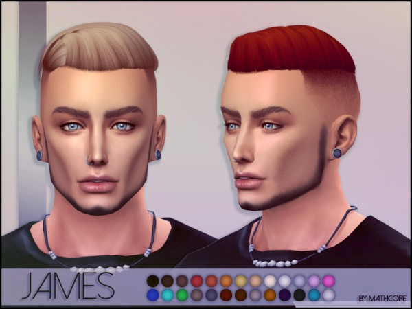 The Sims Resource: James Hair by mathcope for Sims 4
