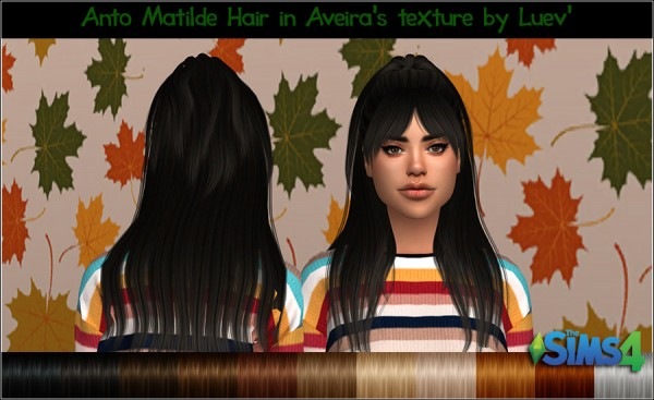 Mertiuza: Anto`s Matilde Hair Retextured for Sims 4