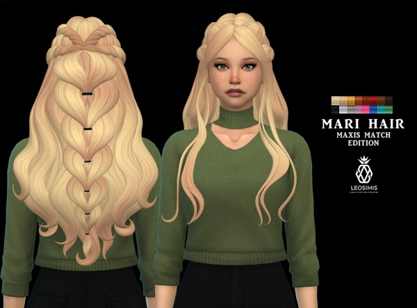 Leo 4 Sims: Mari Hair Recolored for Sims 4