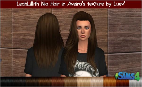 Mertiuza: LeahLilith`s Nia Hair Retextured for Sims 4