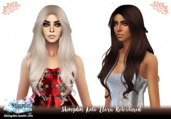 Shimydim: Anto`s Elora Hair Retextured for Sims 4