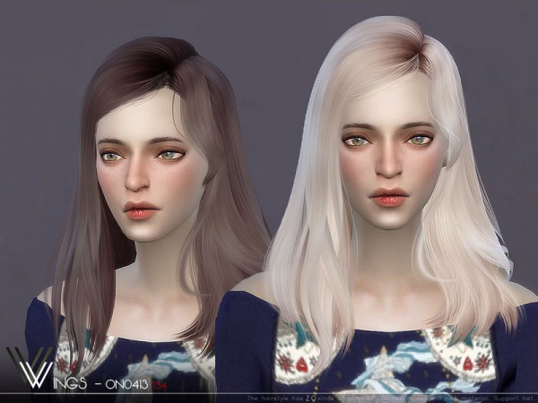 The Sims Resource: WINGS ON0413 hair for Sims 4