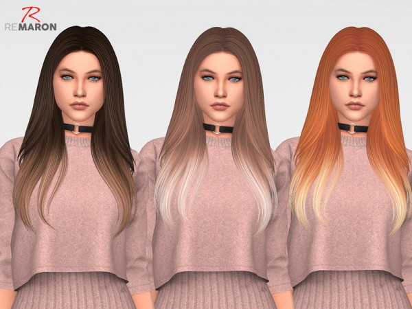 The Sims Resource: Breeze Ombre version Hair Retextured by remaron for Sims 4