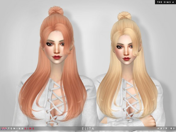 The Sims Resource: Elita Hair 82 by TsminhSims for Sims 4