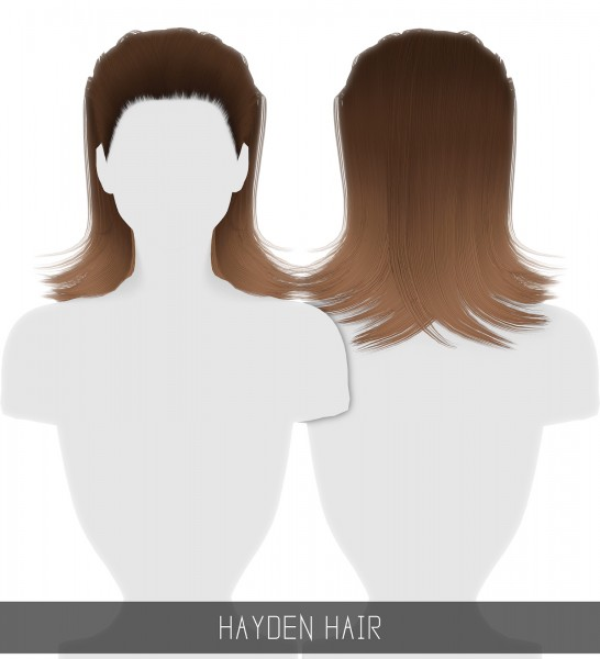 Simpliciaty: Hayden Hair for Sims 4