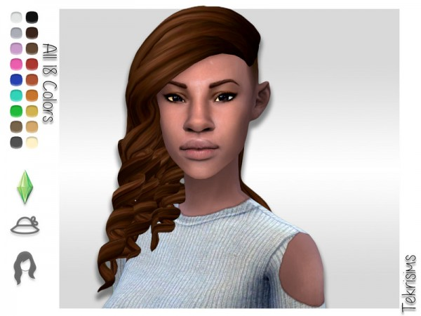 The Sims Resource: Scorn hair by TekriSims for Sims 4