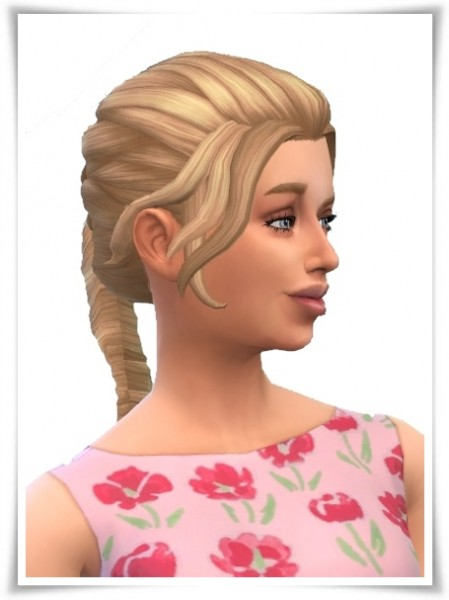 Birksches sims blog: Lose Side French Braids for Sims 4
