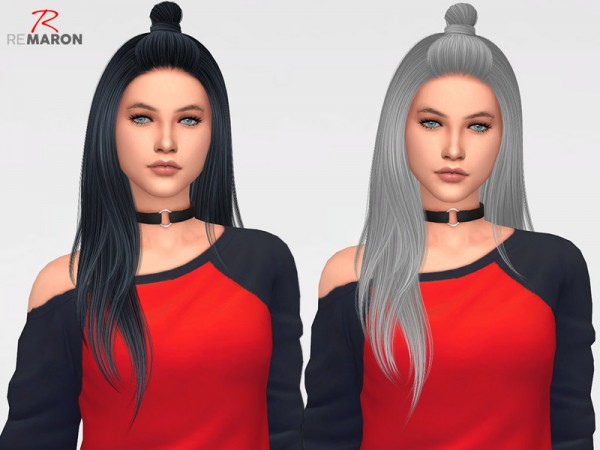 The Sims Resource: Luna Hair Retextured by Remaron for Sims 4