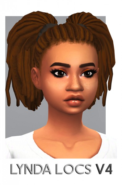 select a Website   : Lynda Locs Hair retextured for Sims 4