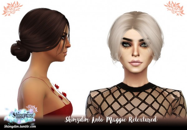 Shimydim: Anto`s Maggie hair retextured for Sims 4