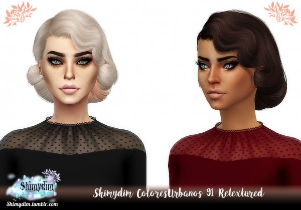 Shimydim: ColoresUrbanos 87, 88, 89, 90, 91 Hair Retextures for Sims 4
