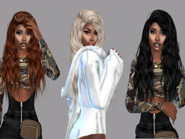 The Sims Resource: Sleepwalking Hair Recolored by Teenageeaglerunner for Sims 4