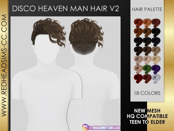 Coupure Electrique: Disco haeven man hair retextured for Sims 4