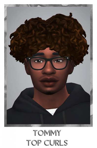 Savvy Sweet: Tommy Top Curls for Sims 4