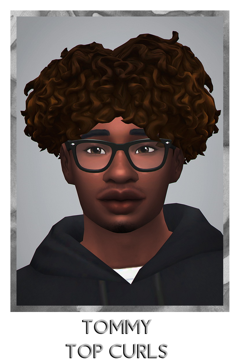 Savvy Sweet Tommy Top Curls Sims 4 Hairs