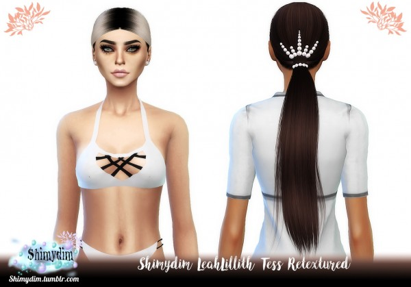 Shimydim: LeahLillith`s Tess Hair Retextured for Sims 4