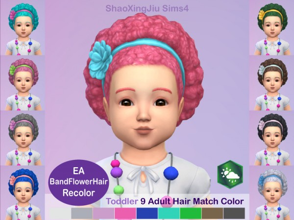 The Sims Resource: Band Flower Hair Recolored by  jeisse197 for Sims 4