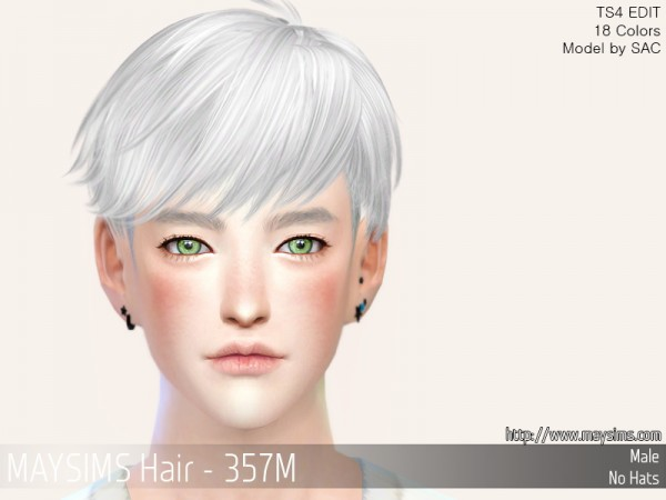 MAY Sims: MAY357M Hair retextured for Sims 4