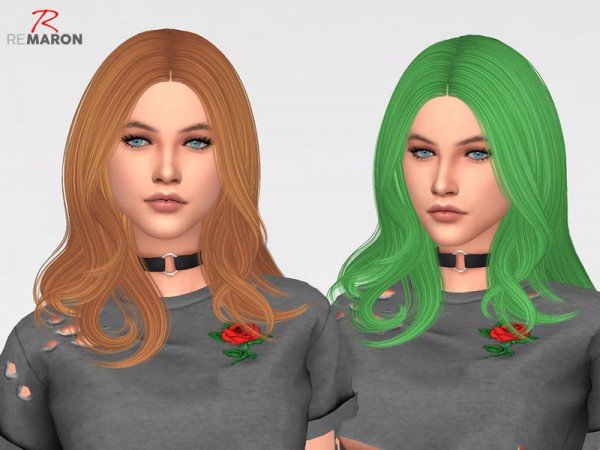 The Sims Resource: Trouble Hair Retextured by remaron for Sims 4
