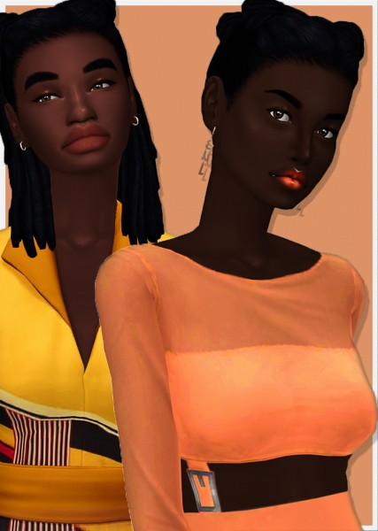 Dbasiasimbr: Kimani and Shaka Hair for Sims 4