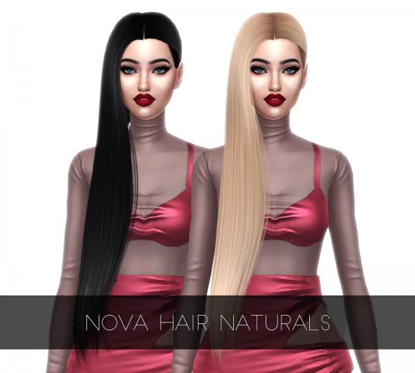 Kenzar Sims: Nova Hair retextured for Sims 4