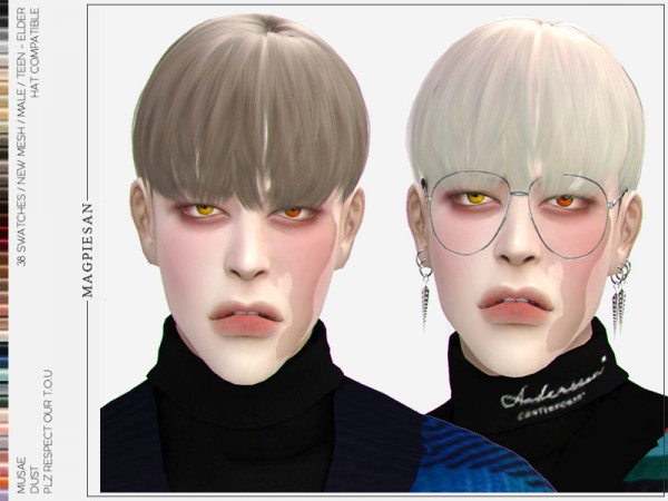 The Sims Resource: Dust Hair by magpiesan for Sims 4