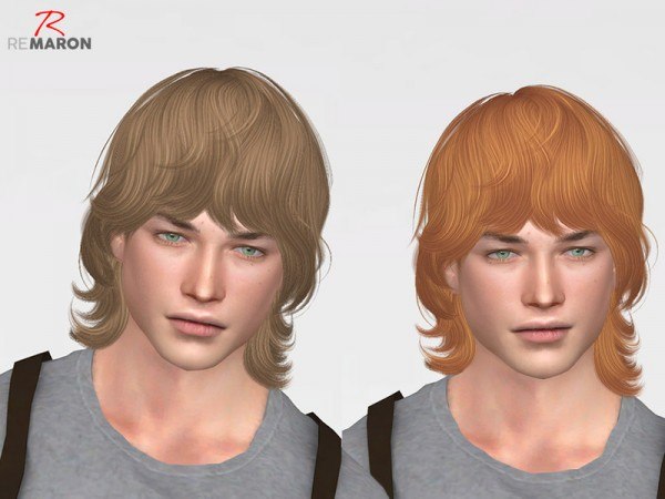 The Sims Resource: Wings ON0204 hair retextured by remaron for Sims 4