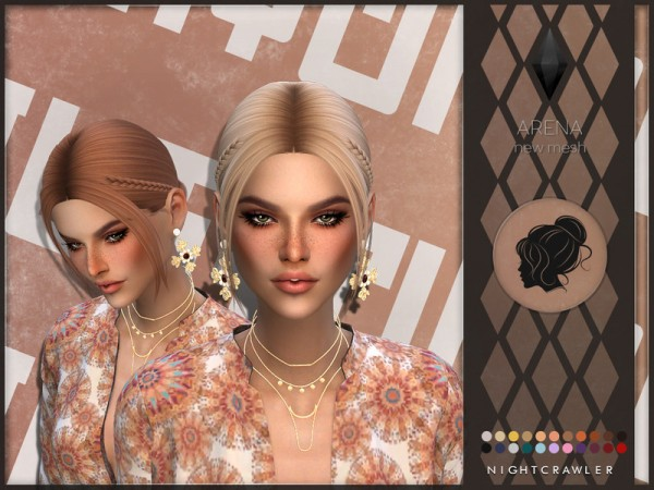The Sims Resource: Arena Hair by Nightcrawler Sims for Sims 4