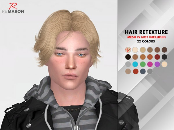 The Sims Resource: OE 0111 Hair Retextured by Remaron for Sims 4