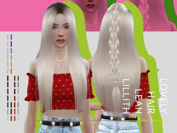 The Sims Resource: Lovely Hair by Leah Lillith for Sims 4