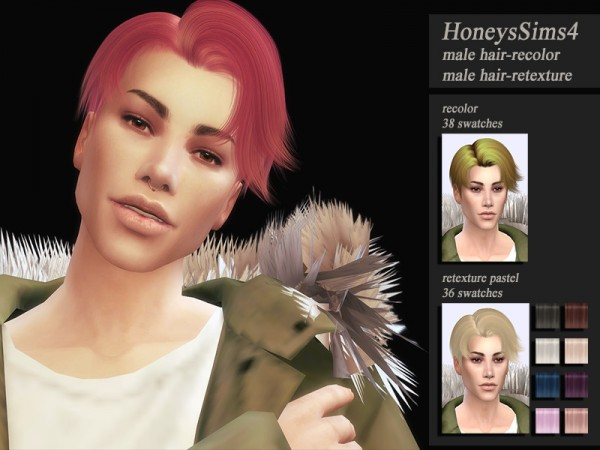 The Sims Resource: S Club`s SeHun Hair retextured by Jenn Honeydew Hum for Sims 4