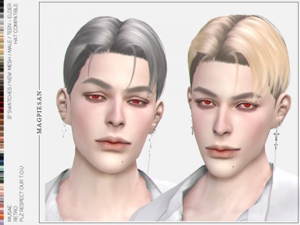 The Sims Resource: Retro Hair by magpiesan for Sims 4