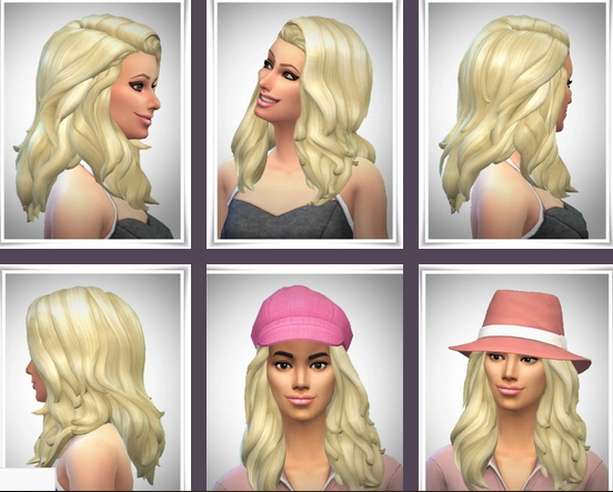 Birksches sims blog: Catherine Hair for Sims 4