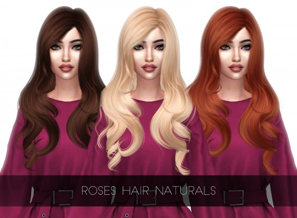 Kenzar Sims: Roses Hair Naturals Retextured for Sims 4