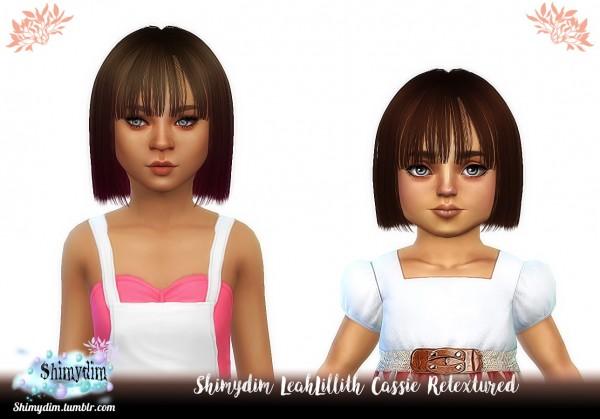 Shimydim: LeahLillith`s Cassie hair retextured for Sims 4