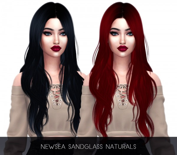 Kenzar Sims: Sandglass hair retextured for Sims 4