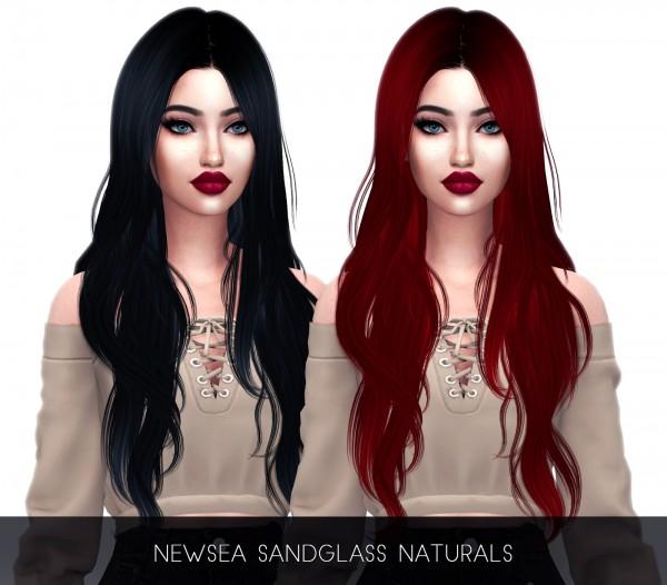 Kenzar Sims: Sandglass hair retextured for Sims 4