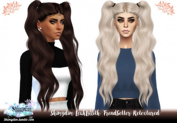 Shimydim: LeahLillith`s TrendSetter Hair Retextured for Sims 4