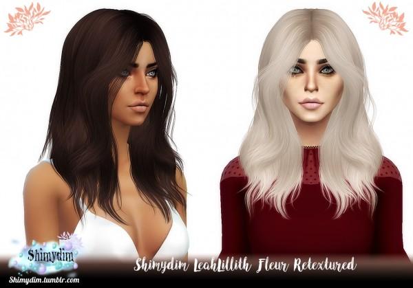 Shimydim: LeahLillith`s Fleur Hair Retextured for Sims 4