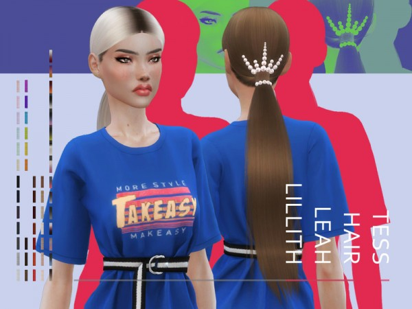 The Sims Resource: Tess Hair by Leah Lillith for Sims 4