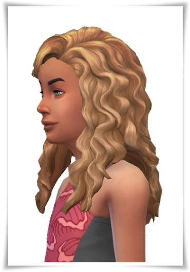 Birksches sims blog: Little Arielle Curls Hair for Sims 4