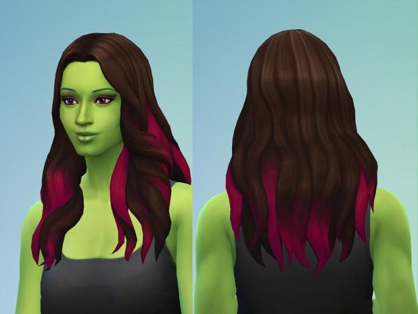 The Sims Resource: Gamora Hair Retextured by marionravenwoodjones for Sims 4