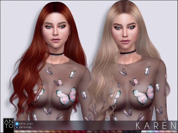 The Sims Resource: Karen Hair by Anto for Sims 4