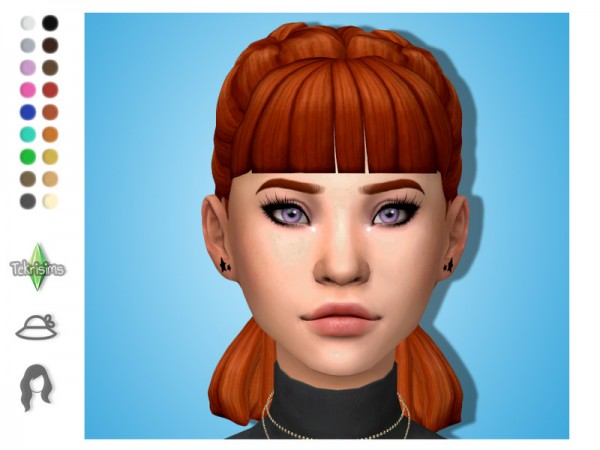 The Sims Resource: Katie hair with bangs by TekriSims for Sims 4