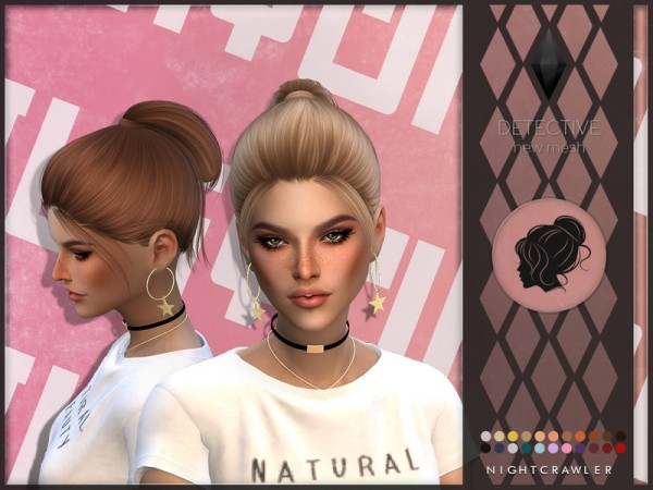The Sims Resource: Detective Hair by Nightcrawler Sims for Sims 4