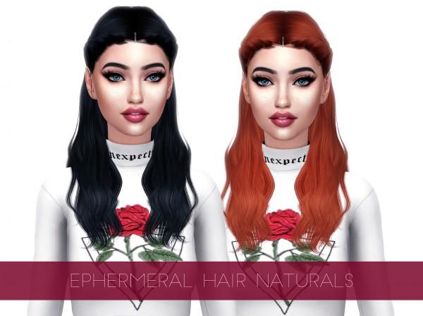Kenzar Sims: Ephemeral Hair retextured for Sims 4